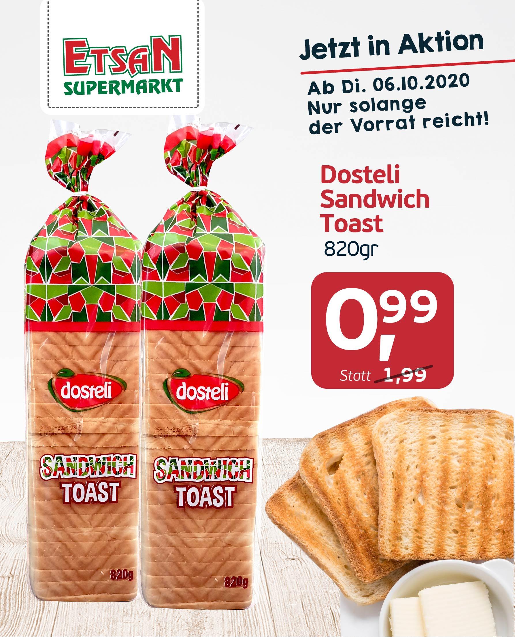Dosteli Sandwish Toast - Etsan Supermarkt